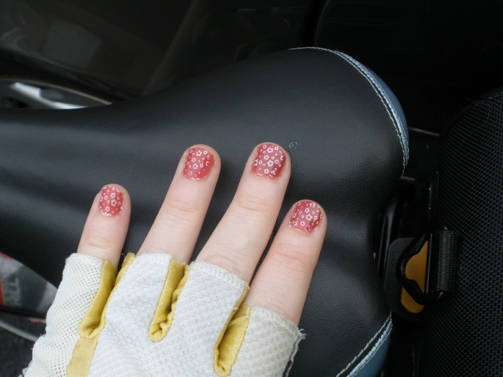 gloved nails