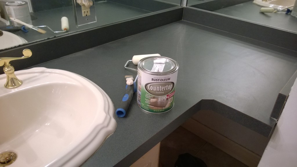 Rustoleum Countertop Paint Pewter : ... countertops with the Rustoleum countertop paint. The old green ready